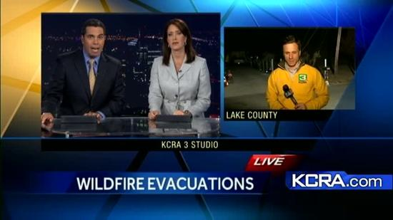 Wildfire threatens homes in Lake county