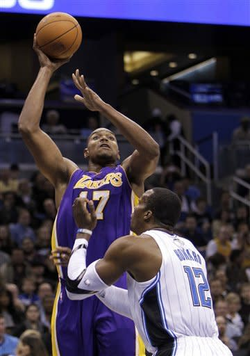Howard's big night carries Magic past Lakers 92-80