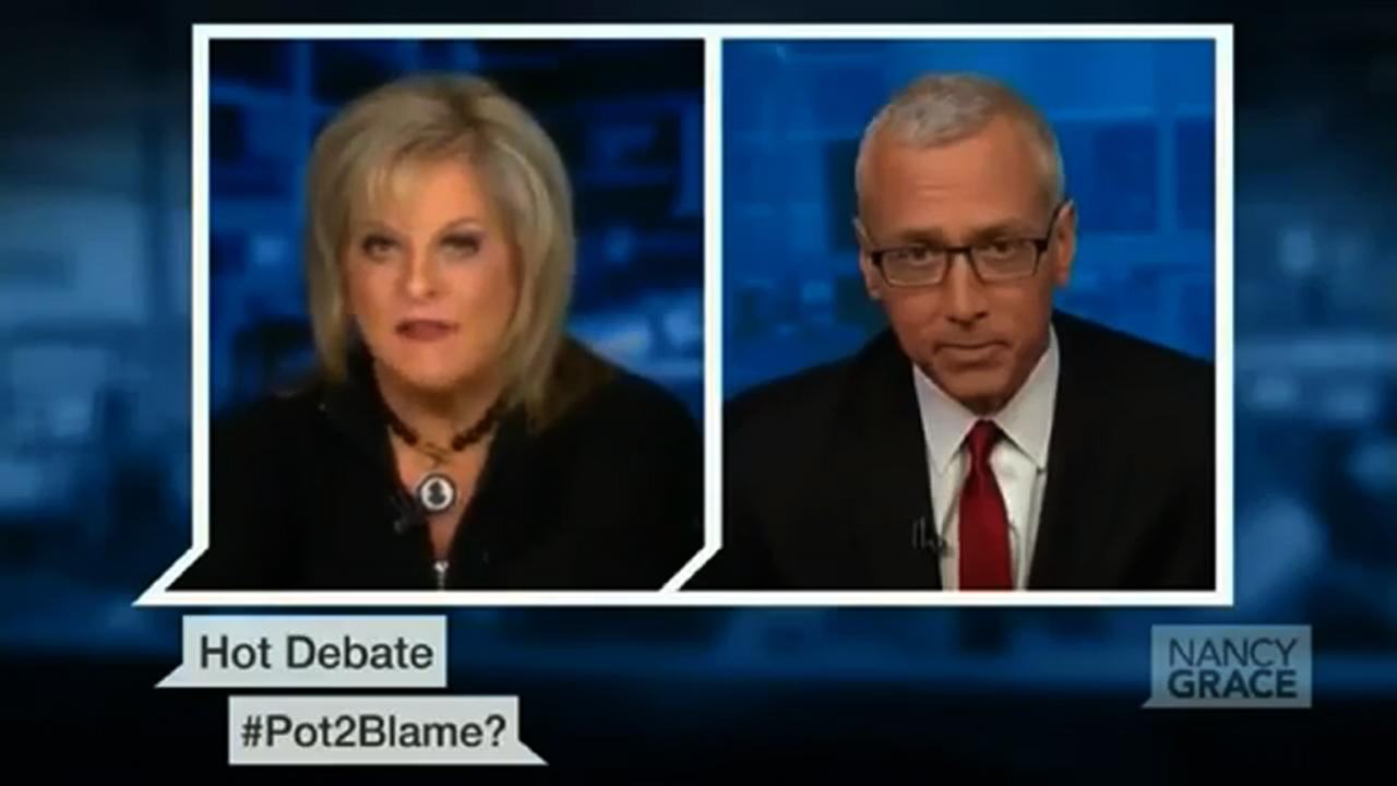 After sparring with 2 Chainz, Nancy Grace debates pot with Dr. Drew