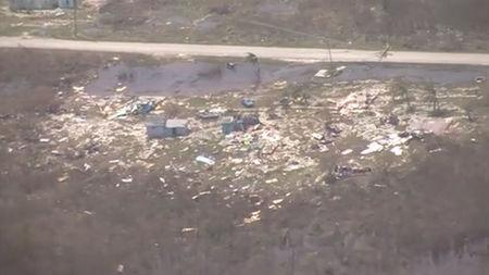 Damage is seen in the Bahamas following Hurricane Joaquin in this still image taken from video provided by the United States Coast Guard