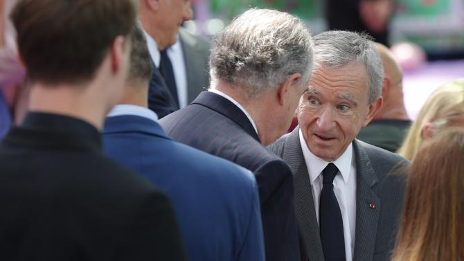 LVMH luxury group Chief Executive Arnault is seen before French fashion house Christian Dior Haute Couture Fall Winter 2015/2016 fashion show in Paris