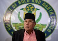 Jamalul Kiram III, the 74-year-old &quot;Sultan of Sulu&quot;, attends a press conference in Manila, February 26, 2013. Jamalul Kiram III emerged from political obscurity this month after a few dozen of his armed followers sailed to neighbouring Malaysia to stake an ancestral territorial claim