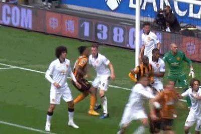 Hull City striker sucker punches Manchester United defender