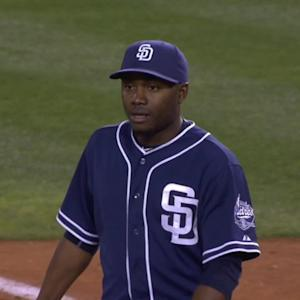Padres get Calhoun after review
