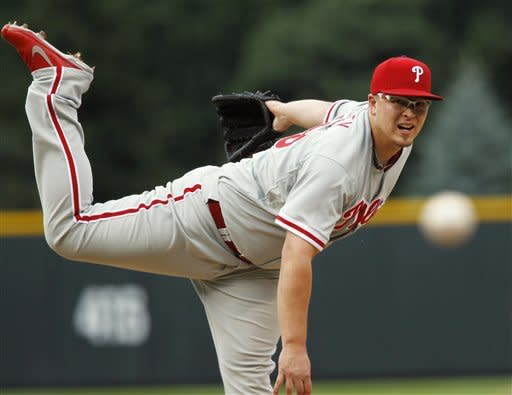Worley helps Phillies beat Rockies, end skid at 5