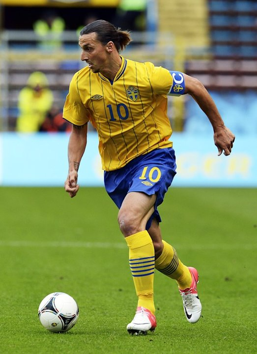 Sweden's Forward Zlatan Ibrahimovic Dribbles  AFP/Getty Images