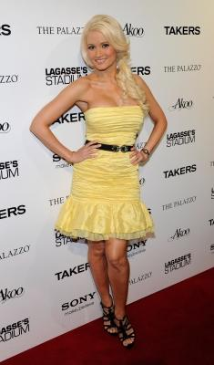Holly Madison smiles at the after party for a screening of the movie Takers at Lagasse's Stadium at The Palazzo in Las Vegas, Nevada, on August 17, 2010 -- Getty Images
