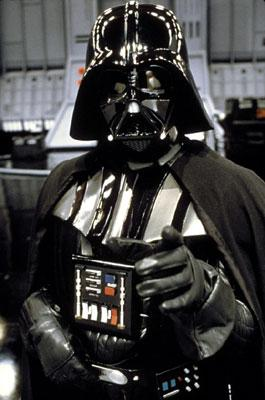 Darth Vader ( David Prowse /James Earl Jones , voice) in 20th Century Fox's Return of the Jedi