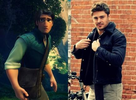 Flynn Rider and Zac Efron