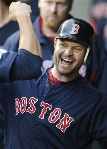 Cook tosses 2-hitter, Boston hits 4 HRs in 5-0 win