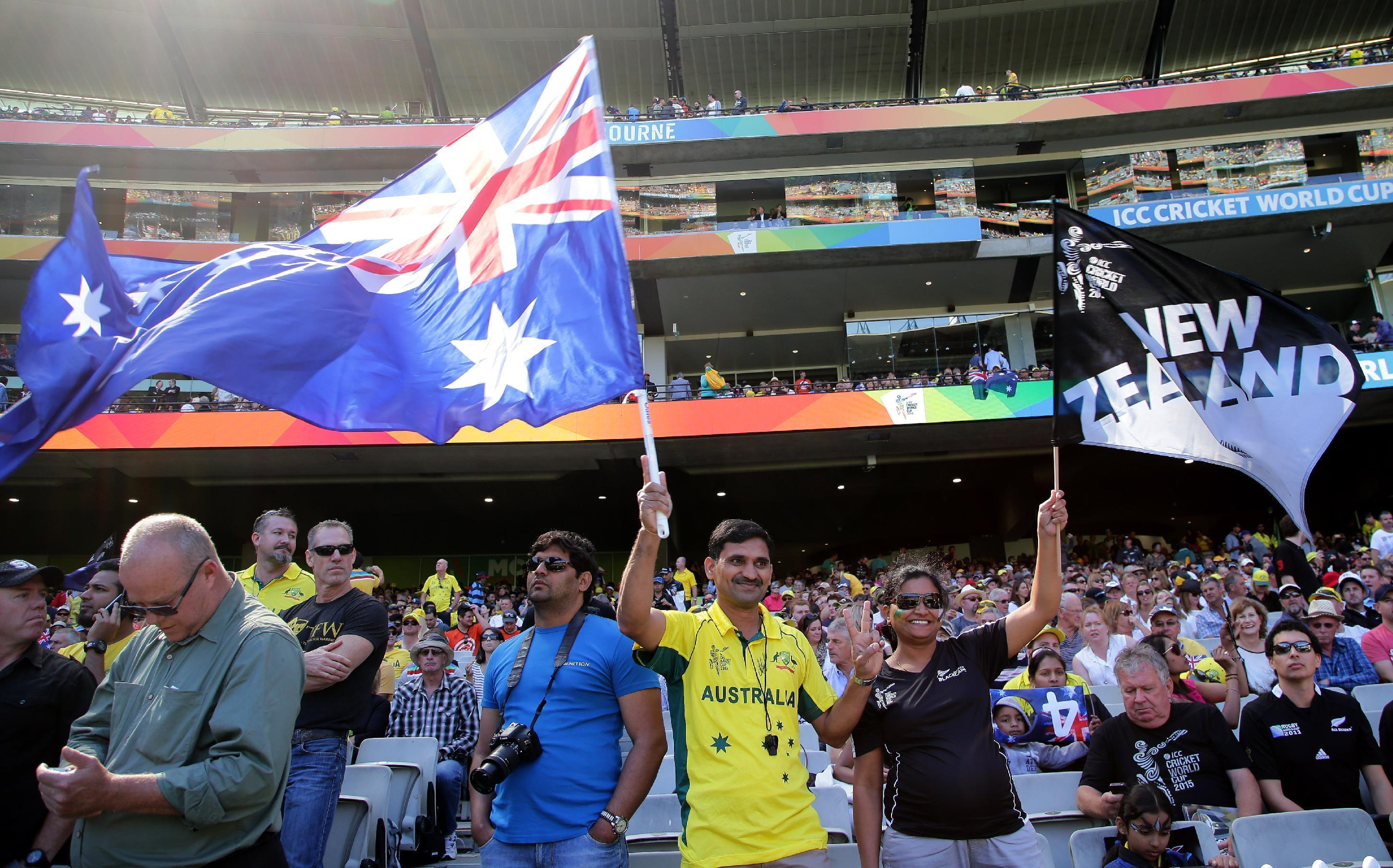 Record-setting MCG crowd on hand for Cricket World Cup final