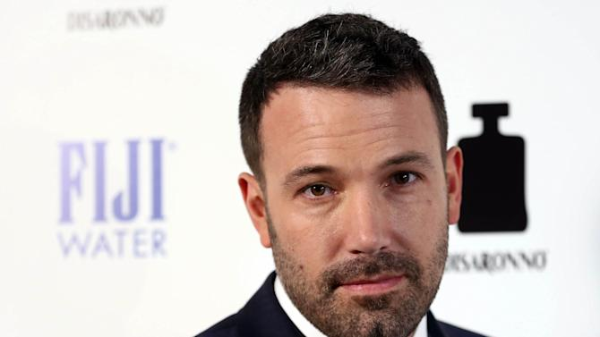 """IMAGE DISTRIBUTED FOR FIJI WATER - Actor Ben Affleck arrives at the premiere of """"To The Wonder"""" hosted by FIJI Water on Tuesday, April 9, 2013 in Los Angeles. (Photo by Matt Sayles/Invision for Fiji Water/AP Images)"""