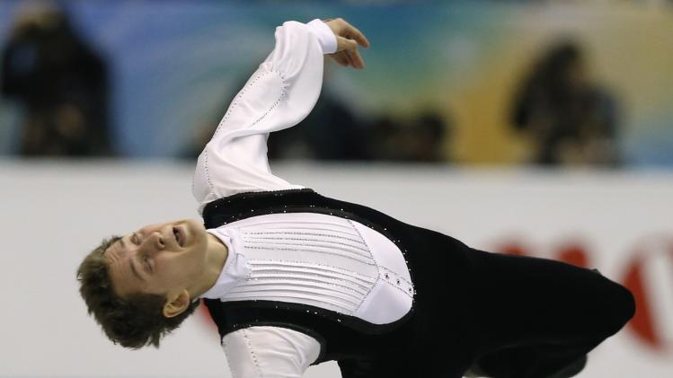 Kovtun of Russia performs during the men's free programme at the ISU Grand Prix of Figure Skating Final in Fukuoka