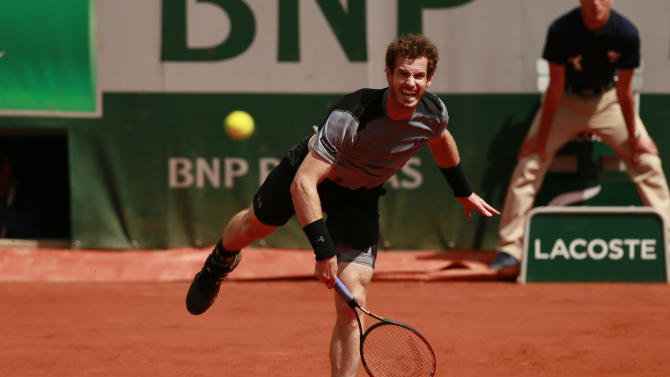 TEN: Mens Singles - Great Britain's Andy Murray in action during the third round