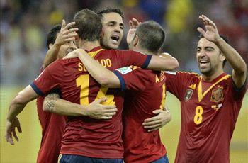 Spain 2-1 Uruguay: World champion records imperious victory