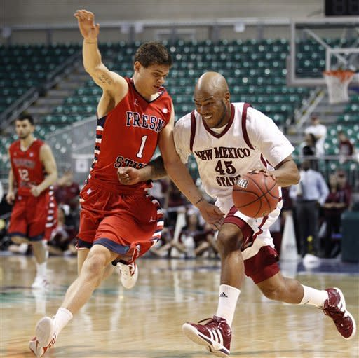 New Mexico State shuts down Fresno State 65-49