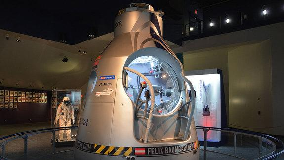 Red Bull Stratos 'Space Jump' Suit, Capsule on Display in Houston