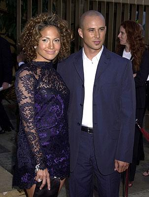 Jennifer Lopez and Cris Judd at the Hollywood premiere of Warner Brothers' Angel Eyes