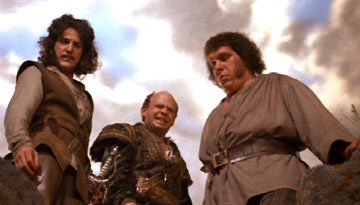 Mandy Patinkin , Wallace Shawn and Andre the Giant in MGM's The Princess Bride