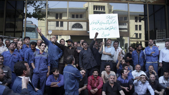 Rare labor petition in Iran shows economic alarm