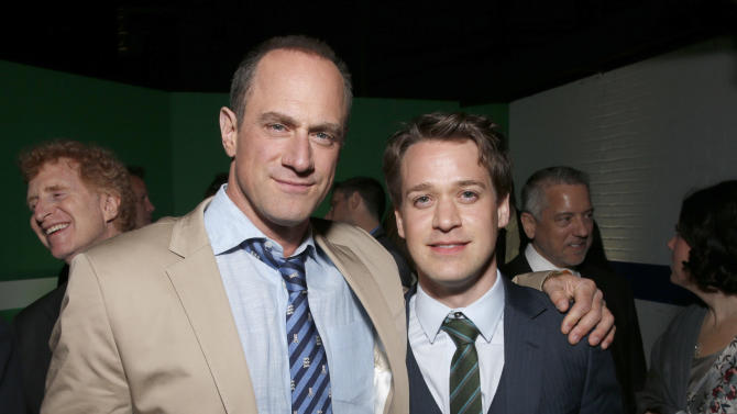 "Christopher Meloni and T.R Knight attend the after party for the LA premiere of ""42"" at the TCL Chinese Theater on Tuesday, April 9, 2013 in Los Angeles. (Photo by Todd Williamson /Invision/AP)"