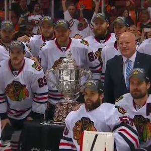 Blackhawks accept Clarence S. Campbell Bowl