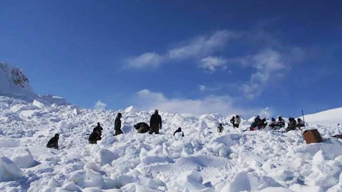 India and Pakistan have deployed around 3,000 troops on the glacier, where winter temperatures plummet to minus 70 degrees Celsius, with blizzards gusting at speeds of 160 kilometres (100 miles) per hour
