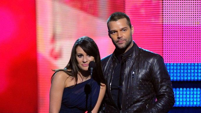 Lea Michele and Ricky Martin at The 52nd Annual Grammy Awards held at Staples Center on January 31, 2010 in Los Angeles, California.