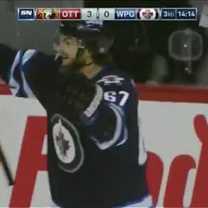 Michael Frolik Goal on Andrew Hammond (05:46/3rd)