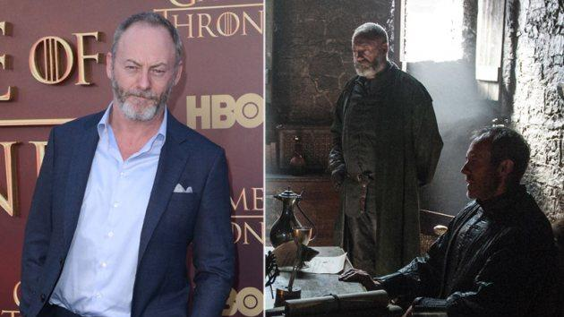 Liam Cunningham (left); Liam Cunningham as Davos Seaworth with Stephen Dillane as King Stannis Baratheon (right) -- HBO/Getty Images