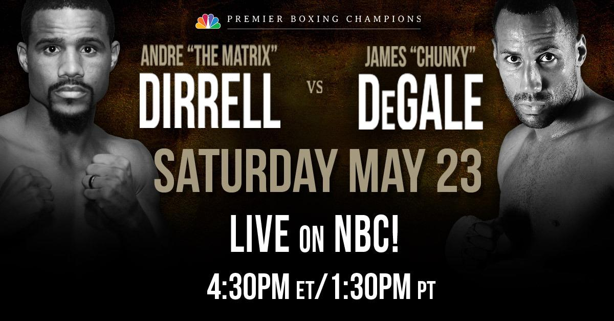 Dirrell and DeGale go toe-to-toe, May 23, on NBC