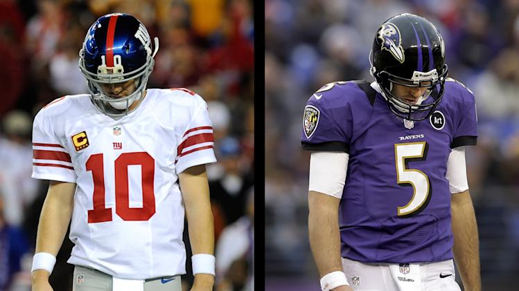 Eli Manning and Joe Flacco