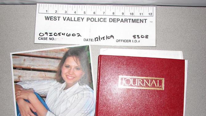 This evidence photo released Monday, May 20, 2013, by the West Valley City Police Department shows a journal collected from Josh and Susan Powell's house. Citing a lack of leads, a police agency said Monday that it is closing the active investigation of the disappearance of Susan Powell, a Utah mother whose now-dead husband was a prime suspect. West Valley City police called the news conference to offer new details in the case that's been largely kept under wraps since Powell vanished in 2009. The announcement came after police spent two days searching in rural Oregon last week for any trace of Powell's body.  (AP Photo/West Valley City Police Department )