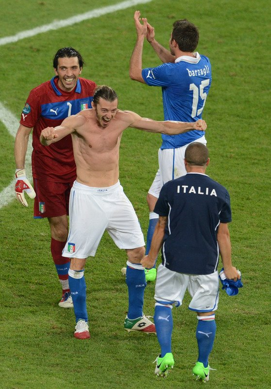 Italian Players AFP/Getty Images