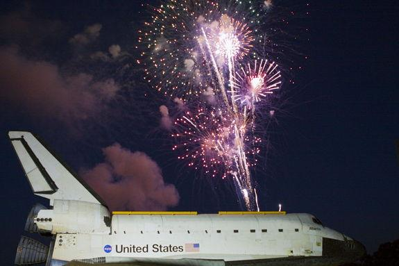 Angling Atlantis: Space Shuttle Tilted for Museum Display