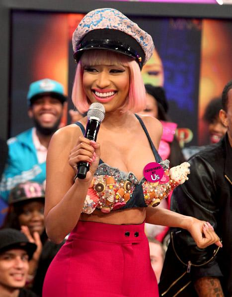 PICTURE: Nicki Minaj Suffers Nip Slip on Live TV