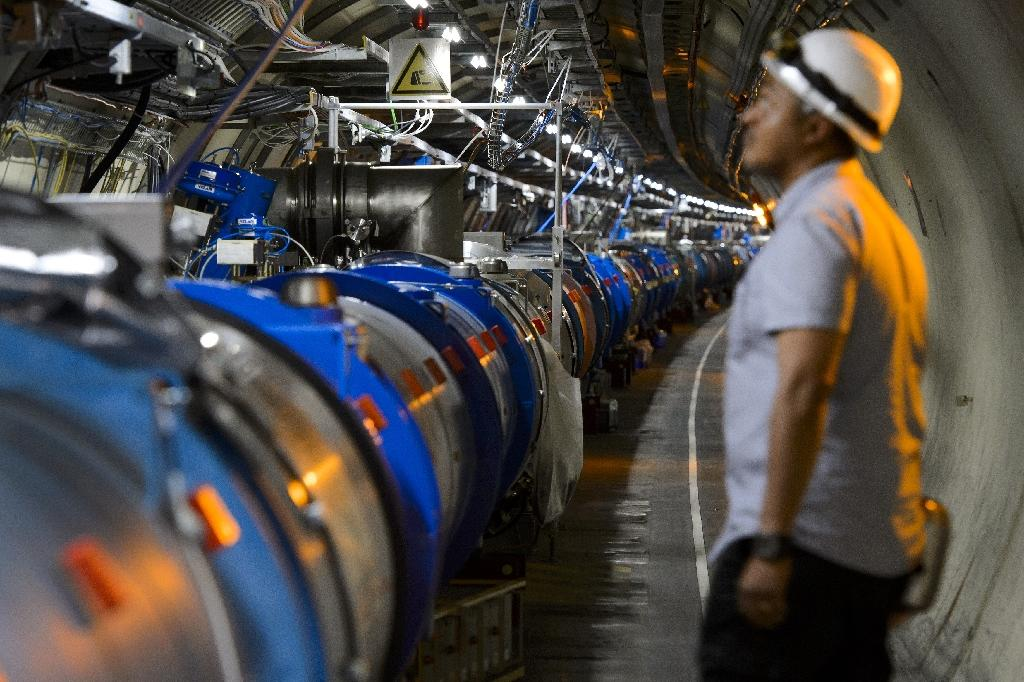 World's largest particle collider busts record