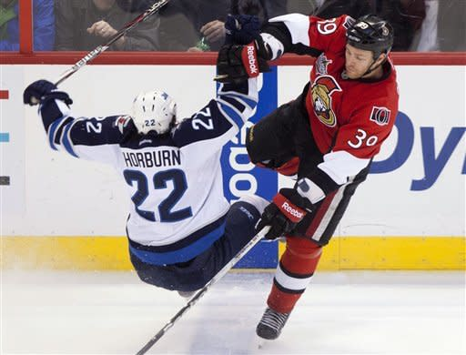Mason's shutout leads Jets over Senators