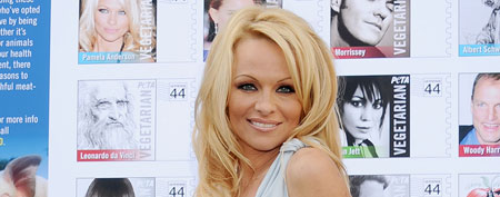Pamela Anderson at the Hollywood Post Office on November 29, 2011 in Hollywood (Gregg DeGuire/FilmMagic).
