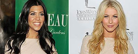 (L-R) Kourtney Kardashian (Denise Truscello/WireImage.com) and Julianne Hough (John M. Heller/Getty Images)