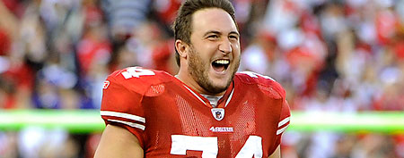 Joe Staley #74 of the San Francisco 49ers. (Photo by Thearon W. Henderson/Getty Images)