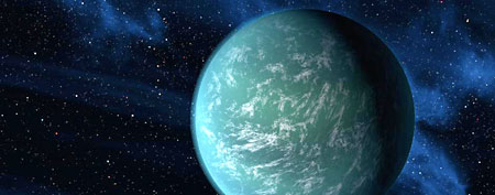 Kepler-22b, a planet known to comfortably circle in the habitable zone of a sun-like star.  (AP Photo/NASA/Ames/JPL-Caltech)