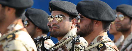 Iran's Revolutionary Guard marches in Tehran, Iran. (AP Photo/Vahid Salemi)