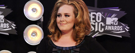 Singer-songwriter Adele arrives at the The 28th Annual MTV Video Music Awards at Nokia Theatre on August 28, 2011.  (Steve Granitz/WireImage)