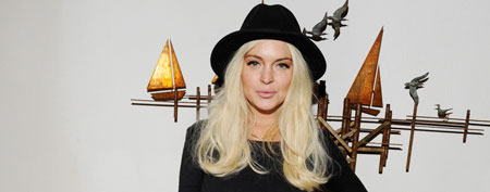 Lindsay Lohan attends the Lana Gomez Art Show on November 11, 2011 in Los Angeles (Amy Graves/WireImage)