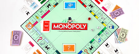 This product image provided by Hasbro, shows the board game Monopoly. (AP Photo/Hasbro)