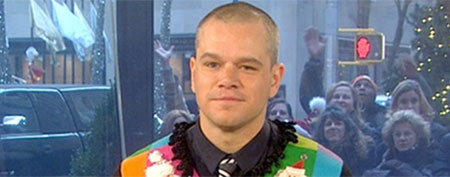 "Matt Damon (""Today"" show, NBC)"