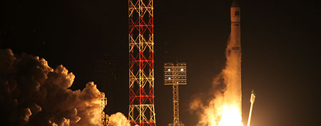 The Zenit-2SB rocket with Phobos-Grunt blasts off from its launch pad at the Cosmodrome Baikonur, Kazakhstan. (AP Photo, File)