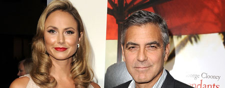 Stacy Keibler (L) and George Clooney (Photo by Steve Granitz/WireImage)