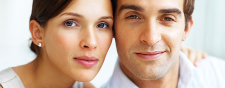 Young man and woman together (Thinkstock)